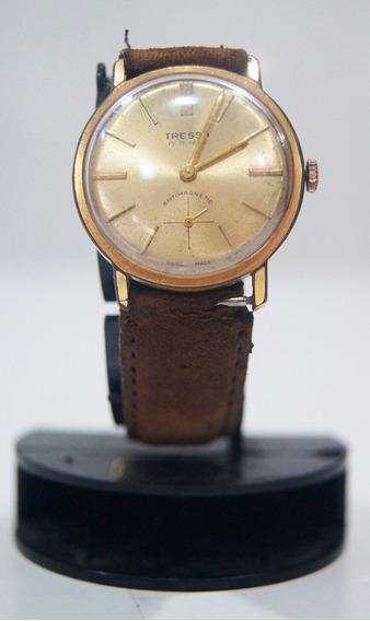 Relógio De Pulso Antigo Tressa Automático Suíço Déc 70