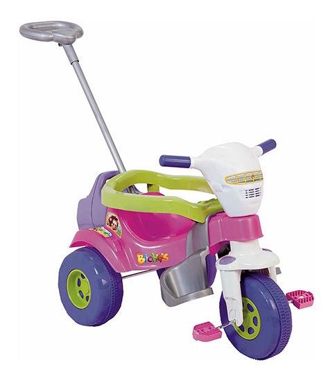 Triciclo Tico-tico Bichos Rosa Com Som - Magic Toys 3513