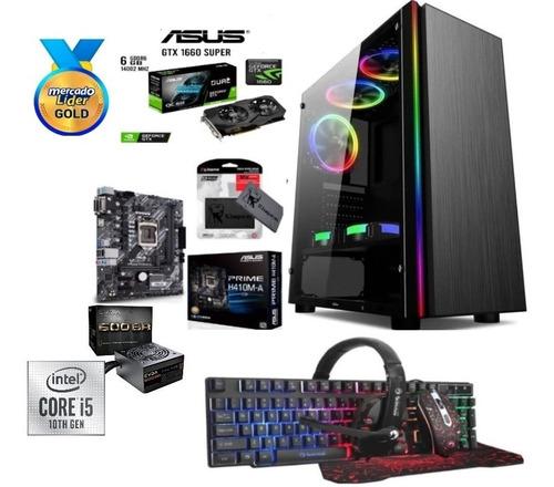 Cpu Gamer Intel Core I5 10ma/1tb+ssd 480gb 16gb Gtx1660s 6gb