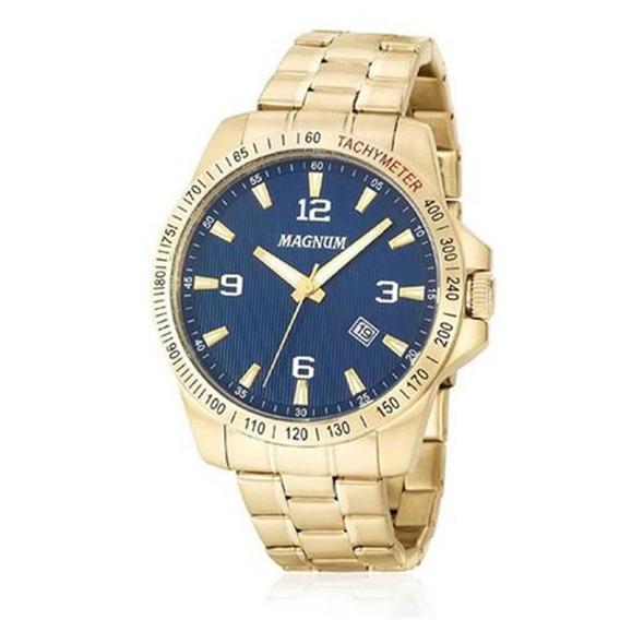 Relógio Magnum Masculino Dourado 10 Atm Ma34978a