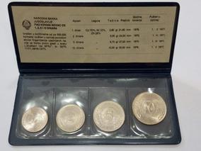 Moedas Iugoslávia - Fao - 1, 2, 5 E 10 Dinares