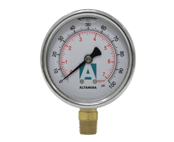 Manómetro Glicerina De 0-100 Psi Altamira