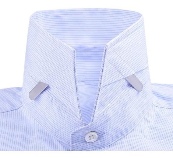 4 Barbatanas Em Aço Inoxidável Para Colarinho Camisa