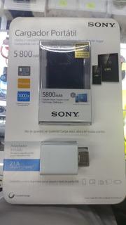 Power Bank Sony 5800 Mas Cargador 2.1a