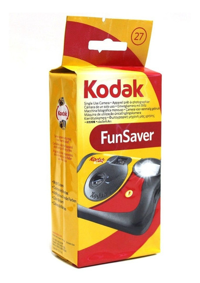 Camera Fotográfica De Uso Único Kodak Com Flash