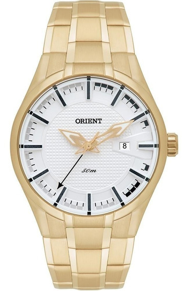 Relógio Orient Mgss1101 Dourado Masculino Frete Grátis