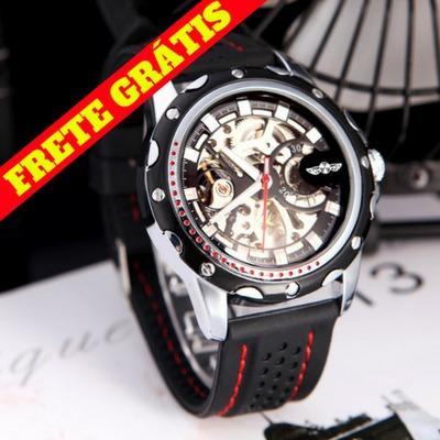 Relógio Masculino Winner Skeleton Automático Frete Grátis