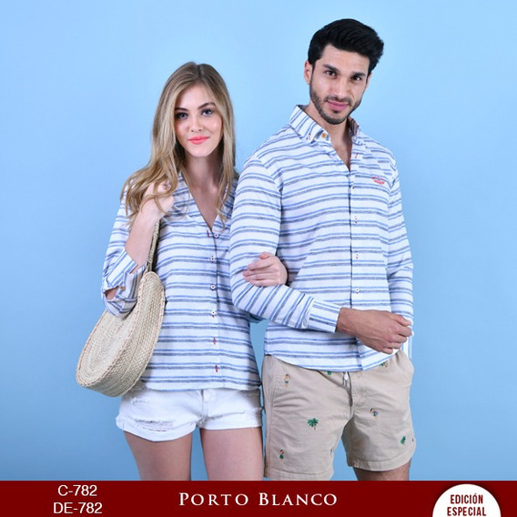 Par De Camisas Porto Blanco Mujer O Hombre Novios De-782