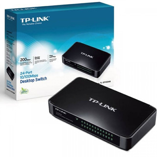 Switch 24 Puertos Tp Link Sf 1024m Sobre Mesa 10/100 Royal