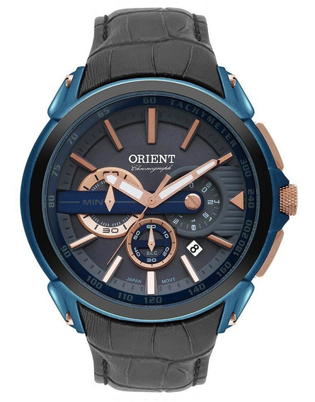 Relógio Orient Cronógrafo Azul Masculino Mtscc028 G1gx