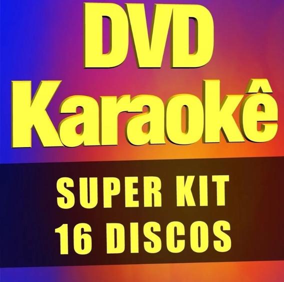 Coletânea Karaokê - 16 Dvds Com Pontuação, Muitas Músicas!