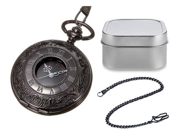 Reloj De Bolsillo Tipo Vintage Varios Modelos Leontina Cuarz