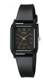Reloj Mujer Casio Lq-142-1e Analogo Negro / Lhua Store