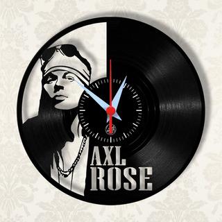 Axl Rose Guns N Roses Relógio Parede Disco Vinil