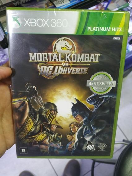 Mortal Kombat Vs Dc Universe Xbox 360 Mídia Física Novo Lacr