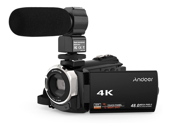 Cámara De Video Digital Andoer 4k 1080p 48mp Wifi
