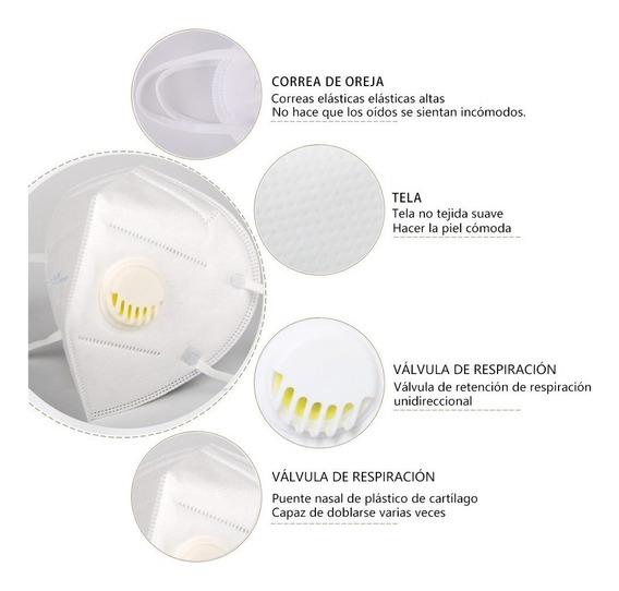Mascarilla Cubrebocas N95 R95 Con Filtro Valvula 1 Pza