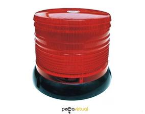 Sinalizador Giroflex Rotativo Led Vermelho 12v Flash