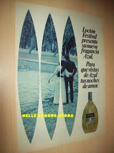 Clipping Antigua Publicidad Perfume Locion Festival