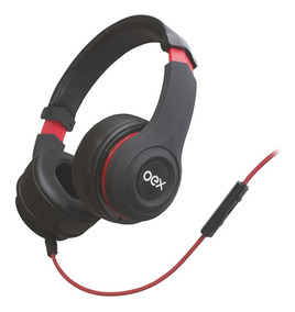 Headset Smooth Com Microfone E Controle De Volume Preto Oex