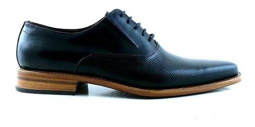 Zapato Cuero Hombre Briganti Acordonado Negro - Hcac00969