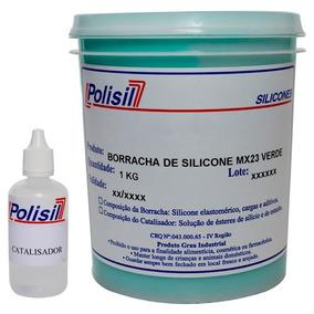 Borracha De Silicone Verde P/ Moldes C Catalisador 1,030 Kg