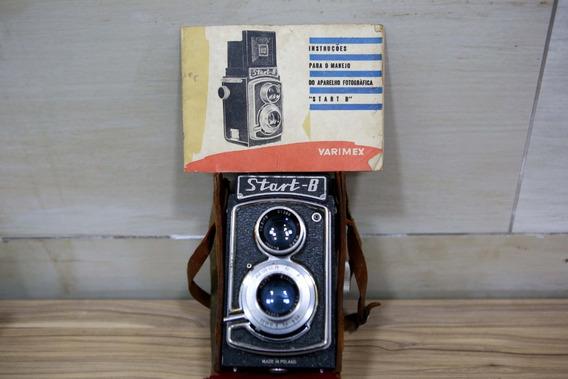 Cãmera Antiga Start B Tipo Roleyflex Com Manual