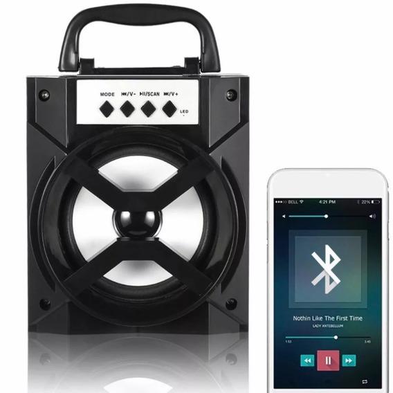 Caixa Bluetooth Entrada Usb/cartão Sd/auxiliar Rádio Fm