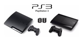Playstation 3 Slim Ou Super Slim + Jogo De Brinde A Escolha