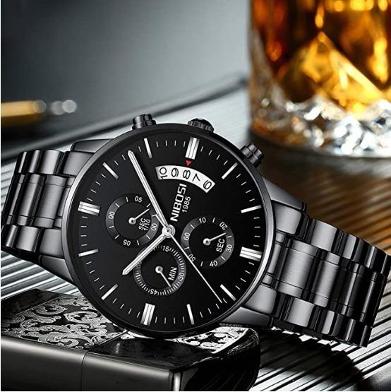 Relógio Masculino Nibosi 2309 Funcional Pronta Entrega