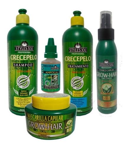 Kit Crecepelo Anticaida Shampoo + Tratamientos + Tonico