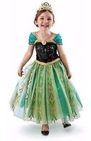 Vestido Fantasia Infantil Frozen Princesa Anna Tamanho 4 110