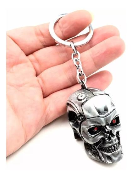 Lindo Chaveiro Exterminador Do Futuro Terminator Em Metal