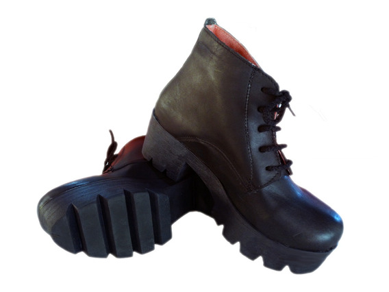 Botineta Dama Mujer Niña Cuero Bota -borcego- Zapatos