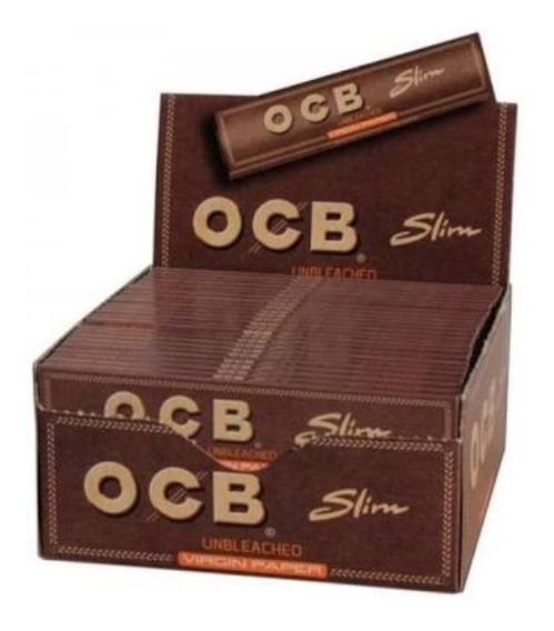 Caixa De Seda Ocb Brown King Size Slim