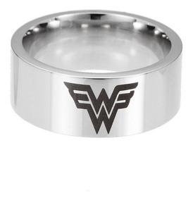 Anel Wonder Woman Prata