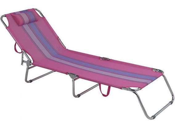 Cadeira Piscina Jardim Espreguicadeira Rosa Alumínio - Mor