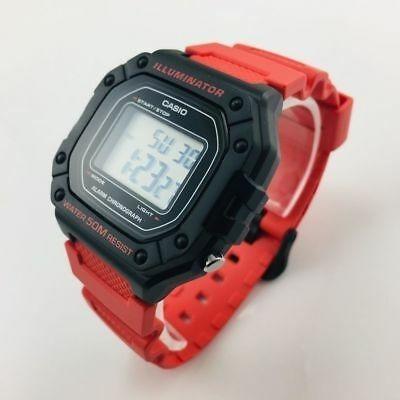 Relógio Casio W218 Vermelho 50 Metros Original Prova Dágua