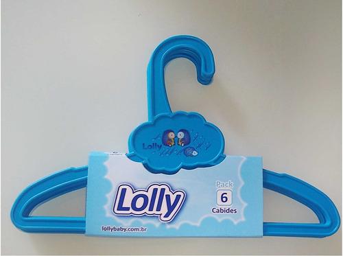 Kit Pack 6 Cabides Zoo Azul Lolly 7240-00-az