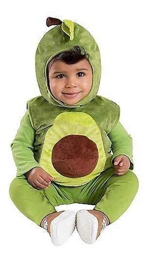 Disfraz Bebe Niña Niño Aguacate Traje Peluche Halloween