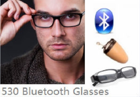 Micro Escuta Espiã Óculos Espião Blutooth , Kit Completo