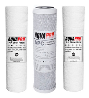 Kit De Filtros Aquapro 3 Etapas Para Osmosis Inversa