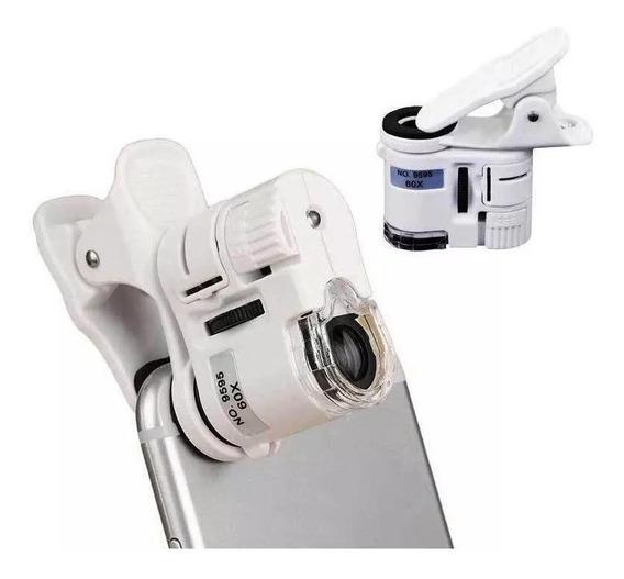 Lupa Portatil Microscópio Câmera Zoom Led 60x Celular