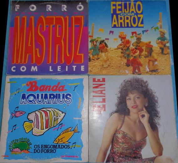 4 Lps Forró Anos 90- Eliane, Mastruz, Feijão Arroz