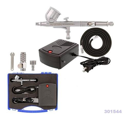 Set Aerografo Multiusos Con Mini Compresor Con Maleta W01