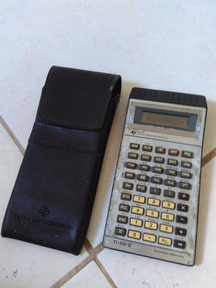 Calculador Cientifica Texas Ti-55-ii Com Capa De Couro