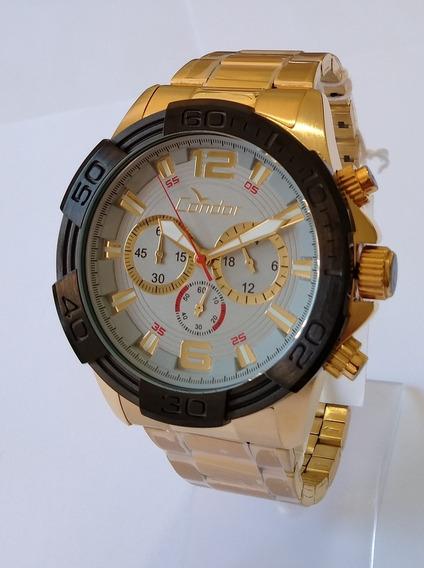 Relógio Dourado Masculino Condor Covd54aa/4k Original.