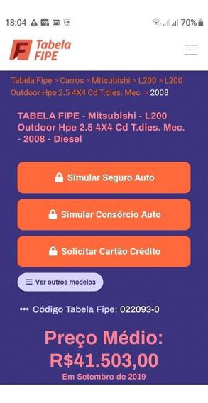 Mitsubishi L200 2.5 Outdoor Hpe Cab. Dupla 4x4 4p 2008