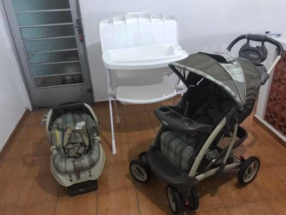 Carrinho De Bebê + Bebê Conforto + Base Para O Carro