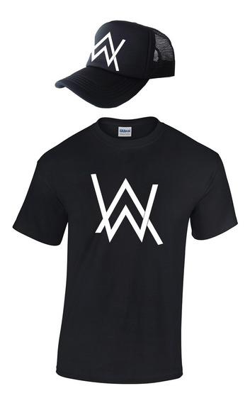 Dj Alan Walker Camiseta + Gorra Camionera Combo